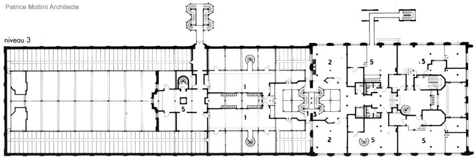 ecole d 39 architecture de normandie patrice mottini plan. Black Bedroom Furniture Sets. Home Design Ideas